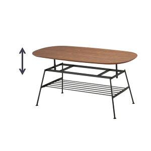 アジャスターテーブルanthem(アンセム)ANT-2734BR【スチール】【USED感】【おしゃれ】【組み立て家具】