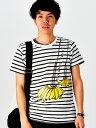 ボーダー Tシャツ 2サイズ展開 沖縄の人気アーティストイラストレーター MIREI(ミレイ)SHIMABANANAお土産雑貨