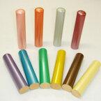 カラーパール柘印 印面サイズ:13.5Φ(mm) スマホの色と合わせてお洒落力アップ!留学生の銀行印としても大人気!