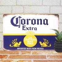 ブリキ看板kコロナビールloインテリアポスターBAR生ビールマークエンブレム雑貨サインボードサインプレートアートアメリカン雑貨
