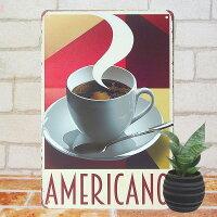 ブリキ看板kコーヒーamインテリアポスターカフェcafe雑貨レトロ風サインボードサインプレートアートアメリカン雑貨