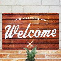 ブリキ看板ウェルカムボードwoプレートボードwelcomeインテリア結婚式披露宴openオープン雑貨