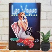 ブリキ看板マリリンモンローラスベガスBARインテリアポスターカジノセクシー雑貨サインボードサインプレートアートアメリカン雑貨