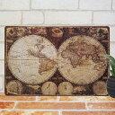 アンティーク調 ブリキ看板 世界地図1 ポスター 古代地図 古地図 地...