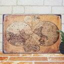 アンティーク調 ブリキ看板 世界地図2 ポスター 古代地図 古地図 地...
