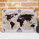 アンティーク調 ブリキ看板 世界地図4 ポスター 古代地図 古地図 地...