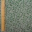 和調木綿 (唐草文様 小)緑【布地 生地 和柄】【和柄生地】【2001-3A】