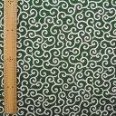 和調木綿 (唐草文様 小)緑【布地 生地 和柄】【和柄生地】【RCP】