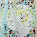 2020年 布カレンダー シロクマと世界の子供