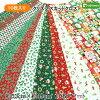 【生地】クリスマスカットクロス10枚アソートセット!!手芸用【生地布地クリスマスハギレ】【RS1】
