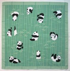 小風呂敷 あにまるちーふ 竹にパンダ
