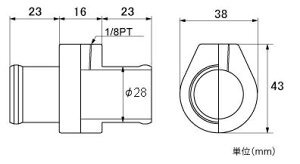 メーター【水温センサーアタッチメント】スイフトZC72S/ZD72S用φ28mm【882300-0028M】