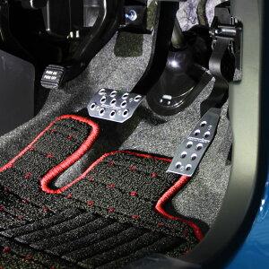 アルトターボハスラーペダルカバーCVT/AGS車【スポーツドライビングペダルカバー/レッドアルマイト】