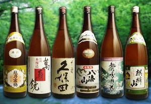 【日本酒セット】これだけ超有名銘酒が揃った6本セット越の寒梅、八海山、麒麟山、萬寿鏡、越の...