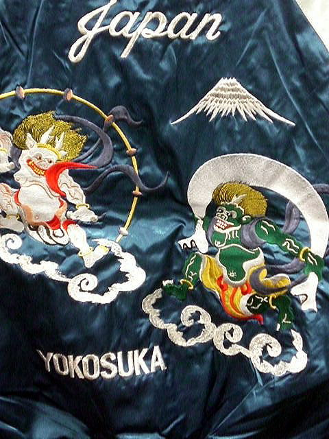 スカジャン 風神雷神刺繍 日本製本格刺繍 2L...の紹介画像2