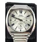 オリス時計腕時計メンズシルバー文字盤ブルークロノグラフ自動巻きバックスケルトンORIS中古送料無料