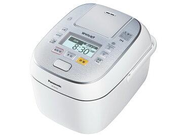 【新品】【送料無料】パナソニック 5.5合 炊飯器 圧力IH式 Wおどり炊き スノークリスタルホワイト SR-SPX107-W