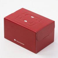 ロールケーキの赤い箱の写真