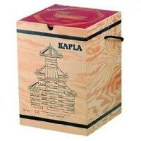 送料無料並行輸入品積木・カプラKAPLAカプラ280(白木)+デザインブック(中級・赤)>木箱入り