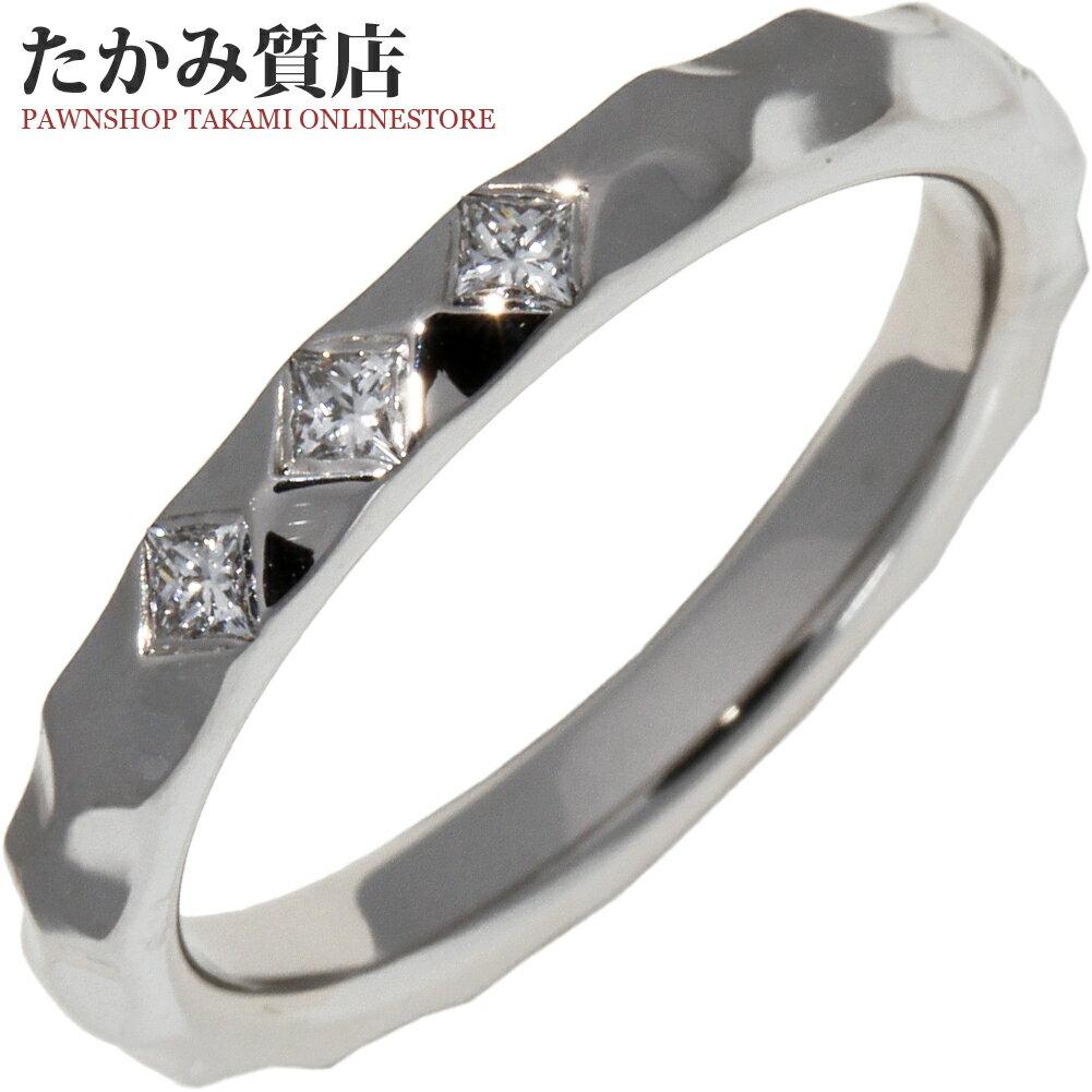 レディースジュエリー・アクセサリー, 指輪・リング  K18WG 3P Q9F95C 49(9)()