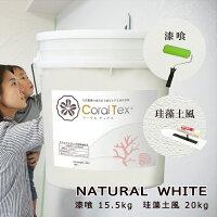 【CORALTEX】古代珊瑚の恵みを主成分とする西洋漆喰NATURALWHITE20kg