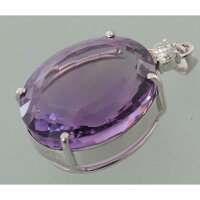 【B34】アメジストダイヤモンドプラチナ900枠ペンダントヘッド品