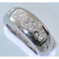 【D92】K18750ホワイトゴールドダイヤ0.23ctデザイン・リング(指輪)中古品仕上げ済み