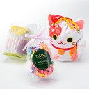 【公式】 新宿高野 招き猫巾着袋E ホワイト   チョコレー