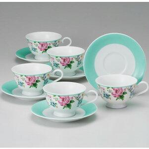 NARUMI【ナルミ】フロレリアコーヒーカップ&ソーサー5客セット5客碗皿内祝いお返し出産内祝い結婚お祝い結婚内祝いプレゼントコーヒー5客セット