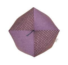 77歳のお祝いに!楽に座れるお座布団喜寿お祝いおじゃみ座布団・Mサイズ 藤紫&あられ紫