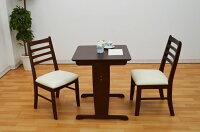 【60cm×60cm】kt-60-3-hdcダイニングテーブル3点セットナチュラル色ダークブラウン色ホワイト色ダイニングセットダイニングテーブルセットナチュラルカントリー北欧風かわいい木製