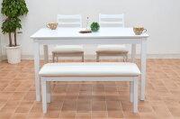★アウトレット★ダイニングテーブル4点セットhd371-120wh-4-ac360幅120cm【ホワイト】白ダイニングテーブルセット4点ダイニングセット4人用椅子完成品木製かわいいクッションレザーシンプル