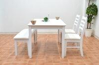 ダイニングテーブルセット4点セットhd371-120wh-4-ac360幅120cm【ホワイト】白ダイニングテーブルセット4点ダイニングセット4人用椅子完成品木製かわいいクッションレザーシンプル【r】161