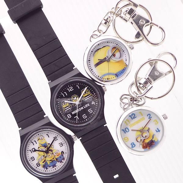 ミニオンズラバーベルト懐中時計ハングウォッチキッズウォッチDES1MINIONS時計おしゃれキャラクター国内ライセンスかわいい腕
