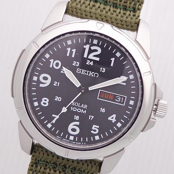 腕時計メンズセイコーSEIKOSNE095P2逆輸入セイコーソーラーメンズ腕時計ナイロンベルトウォッチSEIKOSOLAR10A