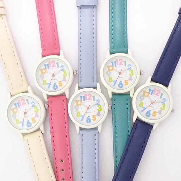 キッズレディスカラフルウォッチポスト投函KDS004チロルかわいい腕時計レディース子供女の子男の子カラフルインデックス時計5カラ