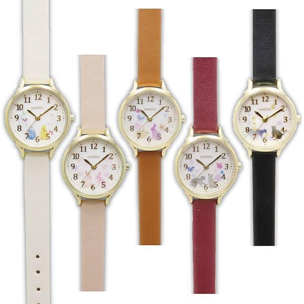 デザインパステル革ウォッチGY006シロップ腕時計ポスト投函腕時計レディス日本製ムーブ使用シンプルかわいいパステルカラー水彩画イ