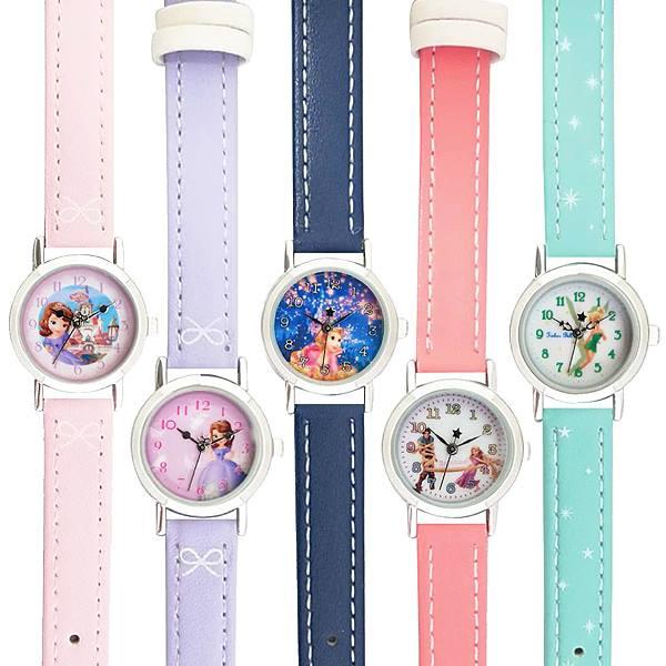 プリンセス皮ベルト腕時計ウォッチキッズレディスウォッチポスト投函PR2Princessキャラクター国内ライセンスかわいいレディー
