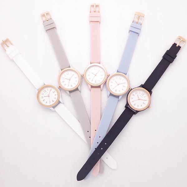 シリコンベルトカラフルウォッチYM023マドレレディス日本製ムーブ使用レディース腕時計おしゃれかわいい見やすい軽量パステルカラー