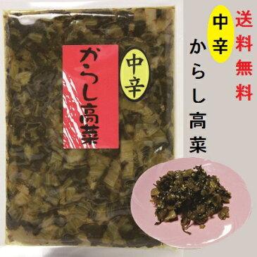 からし高菜・中辛(大薗漬物)270g×1袋【送料無料】【メール便対応】