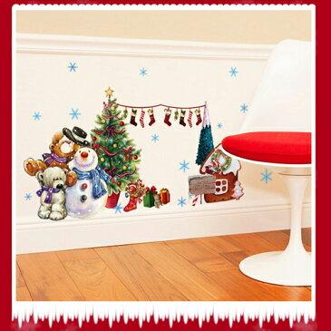 ウォールステッカー クリスマス 3D ツリーくまさん雪だるまスノーマン壁飾り クリスマスハンド サンタクロース パーティ 飾りつけ ガーラン クリスマスの靴下 クリスマス店舗 ショーウィンドウカッティングシートガラスステッカープレゼント
