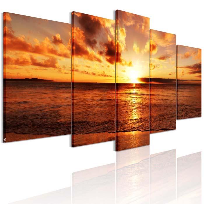 送料無料 絵画 海 アートパネル 海辺の夕日 モダン 現代 「海の景色」「夜明けの海」 画 インテリア 絵画 海 風景画 壁飾りAirbnb 民泊 シェアハウス 装飾 5枚パネルセット