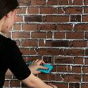 送料無料 壁紙シール レンガ 幅45cm×長10m 壁紙 のり付き   はがせる壁紙 シールタイプ 新生活/引越し/インテリア/クロス/模様替え/リフォーム/おしゃれ/DIY/寝室/キッチン/プチリフォーム
