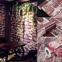 壁紙シール壁紙 レンガ柄 裏面がシール カッティングシート はがせる壁...