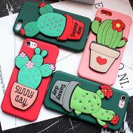 iPhonecasecuctusiPhoneケースサボテンシリコンスマホスタンド立体的アイフォン76s6アイフォン7プラス6sプラス6プラスデザインケーススマートフォンケーススマホケーススマホカバーアイフォンケース
