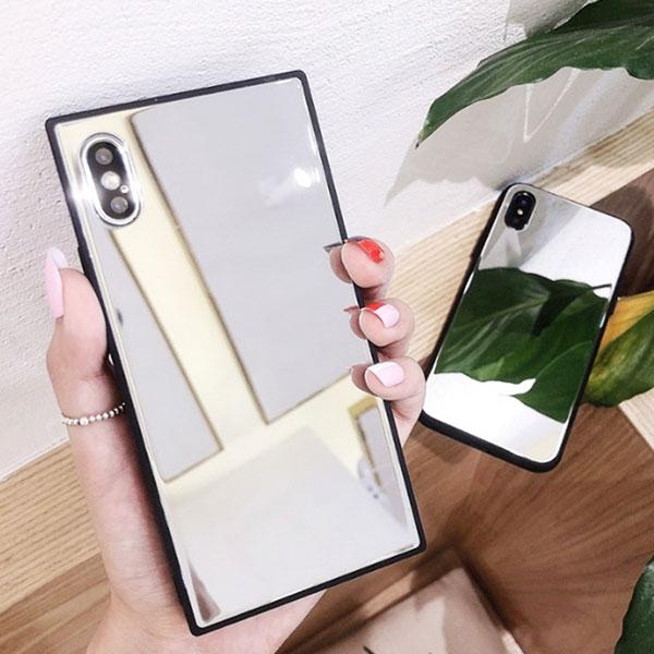 iPhone Design Case All Mirror Square Round