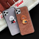 iPhone Leather Toy Poodle Case iPhone ケース レザー トイプードル スエード 子犬 ぬいぐる……