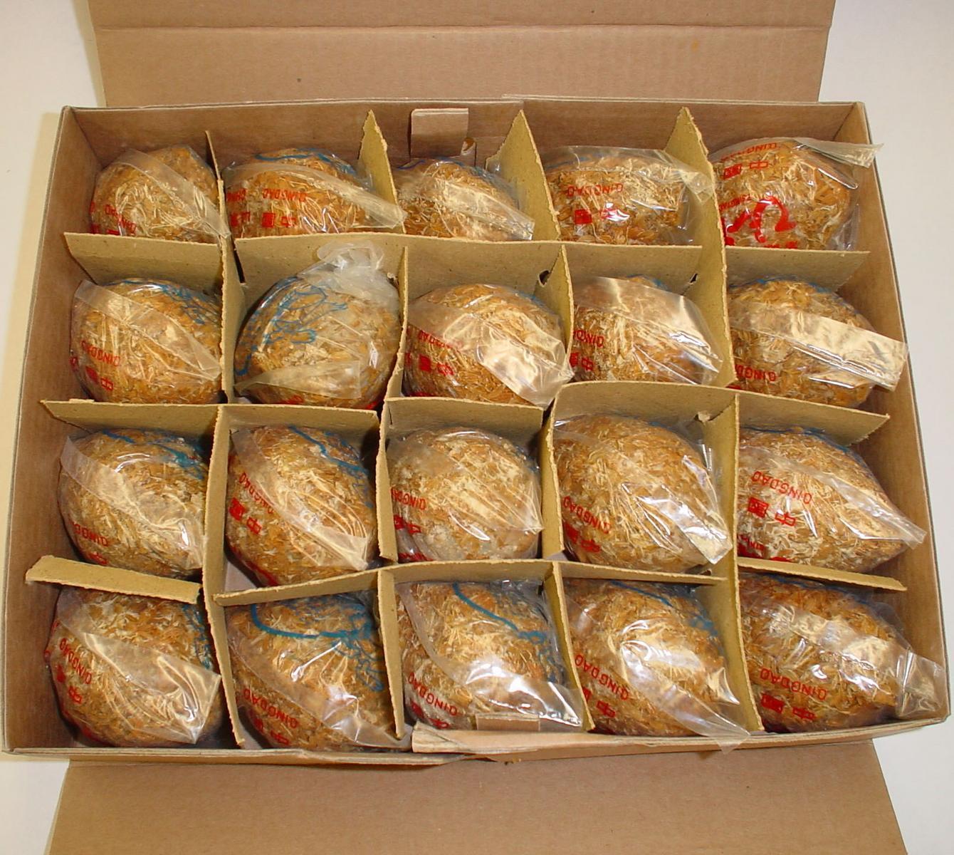 【まとめ買い】 チンタオピータン 青島皮蛋 (硬芯タイプ) 中国産 Lサイズ 20個 x8箱