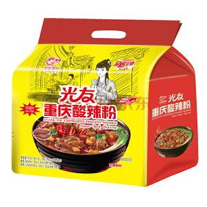 四川光友粉絲 重慶酸辣粉絲 方便粉絲 酸辣味 即席スープ春雨 (サンラー味) 中国産 90g x4食 袋麺