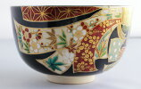 加藤利昇束熨斗茶碗京焼利昇窯(茶道具・抹茶茶碗)